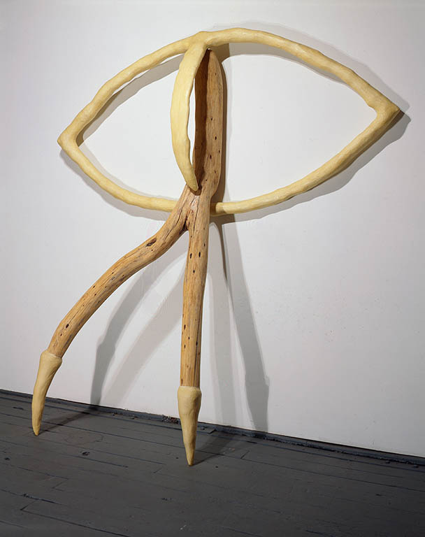 """T.S.A.E., 1990 wood, Fixall, steel, varnish 101"""" x 90"""" x 21"""""""