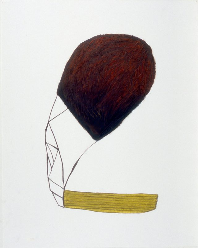 "Untitled, April 3, 1999 #3, oil stick & graphite on paper, 32"" x 24"