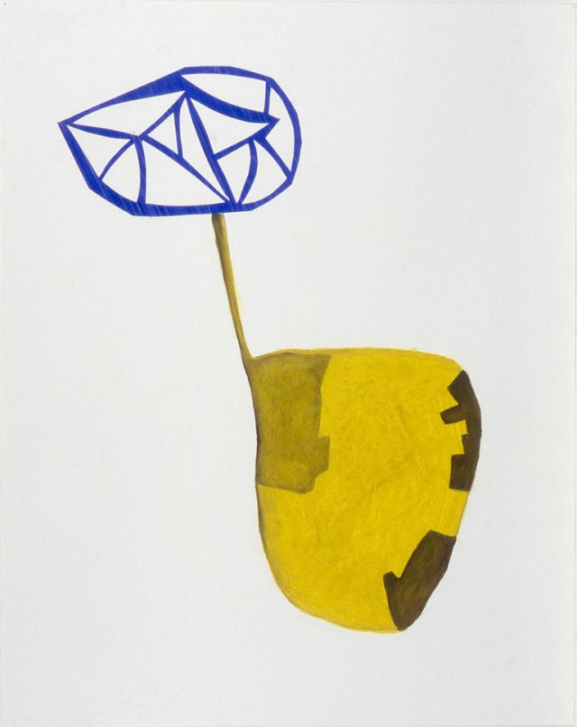 "Untitled, April 3, 1999 #4, oil stick, graphite, collaged paper on paper, 32"" x 24"""