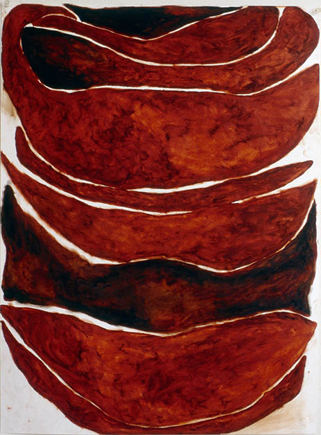 "Untitled, Nov. 1, 1992 #1, oil stick on paper, 30"" x 22"""